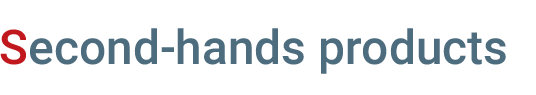 Second-hands-products